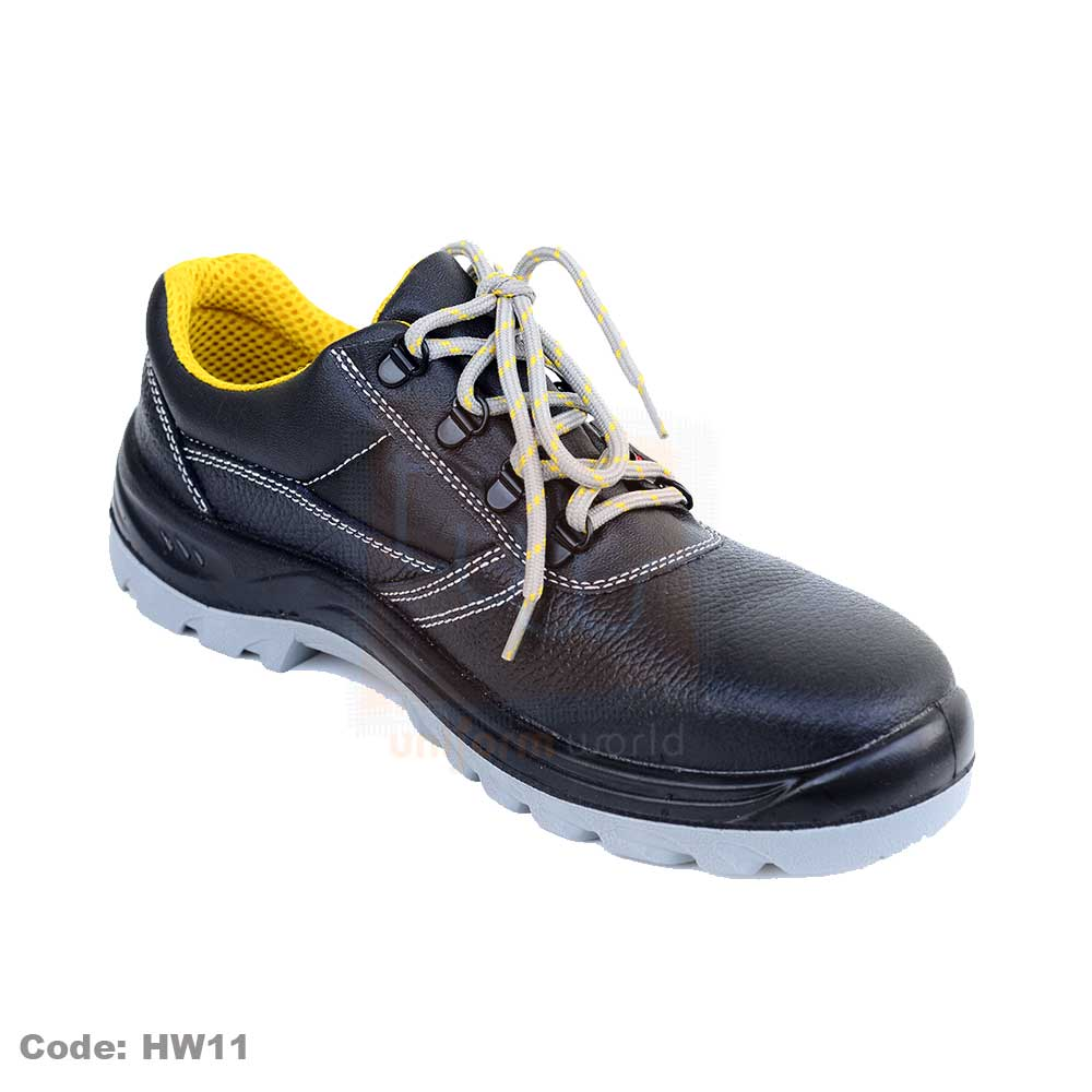 Black Honeywell Safety Shoes Low Ankle Steel Toe HW11