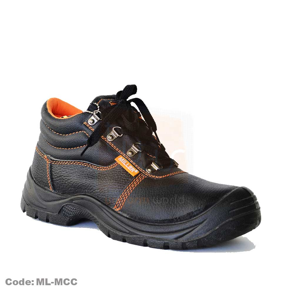 Black Miller Safety Shoes High Ankle Steel Toe ML-MCC