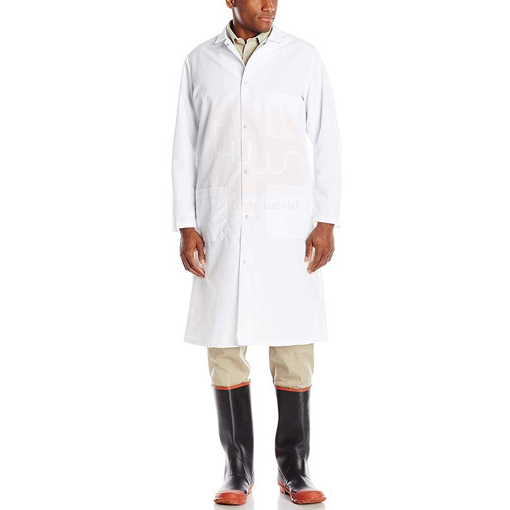 White Butcher Coat Twill Cotton - Dubai UAE - Leading ...